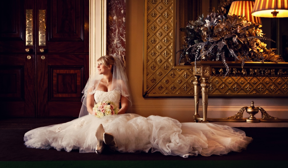 wynyard hall wedding bride