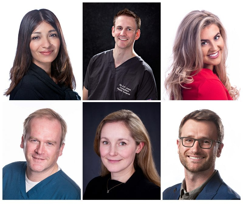 selection of professional headshots taken in the studio at Gary Walsh Photography